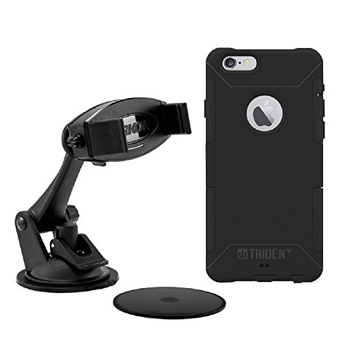 Trident Case Car Mount with Aegis Protective Case for iPhone 6/6s - Retail Packaging - Black