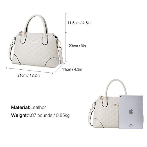 Bags Handle Top Women Leather White Ladies Satchel BOYATU Shoulder Bag for Handbag Off S0wvq