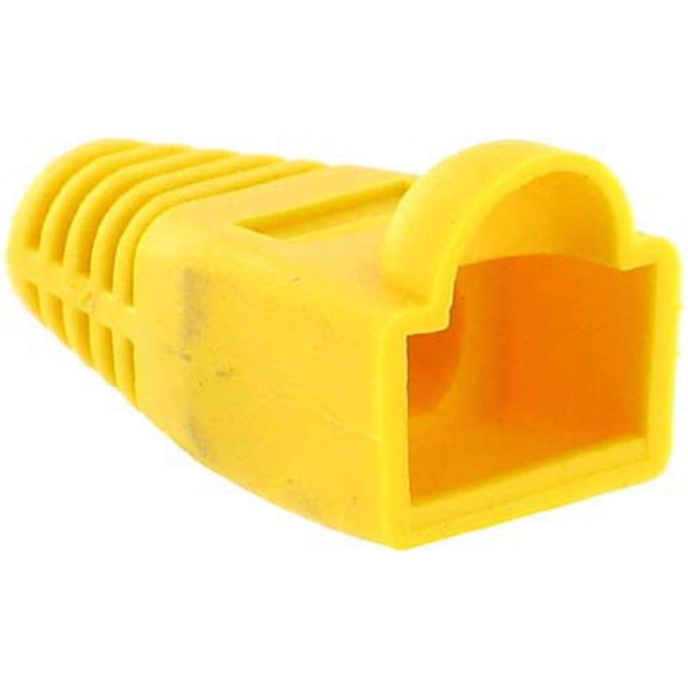 Plug Boot; RJ45 connector; Yellow, Pack of 100