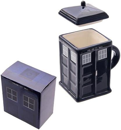 Ceramic Puckator Police Box Mug with Lid: Amazon.co.uk: Kitchen & Home