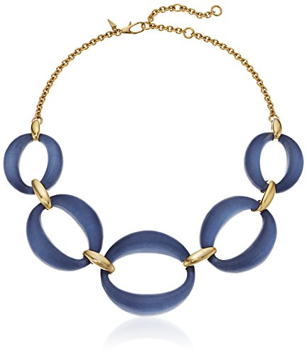Alexis Bittar Large Lucite Link Ocean Chain Necklace ()