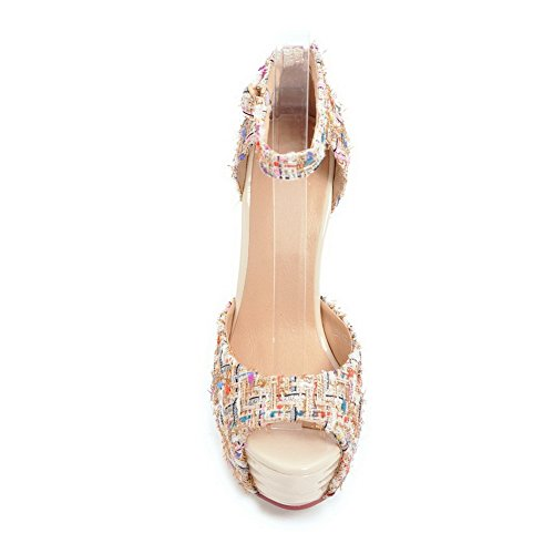 AN Beige 35 Apricot DIU01025 Ballerine Donna r7qpZw7xY