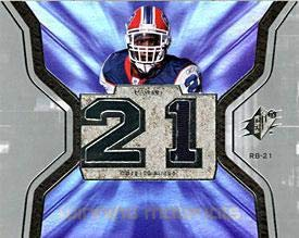 Willis McGahee Upper Deck 2007 SPX Game-Used Winning Materials Card #WM-WM - Baltimore Ravens - Football Game Used Cards