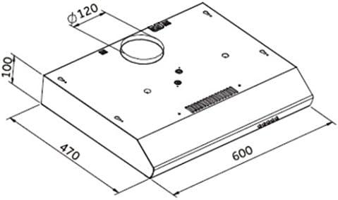 KHU-602 - Campana extractora (60 cm de ancho, plana): Amazon.es: Grandes electrodomésticos