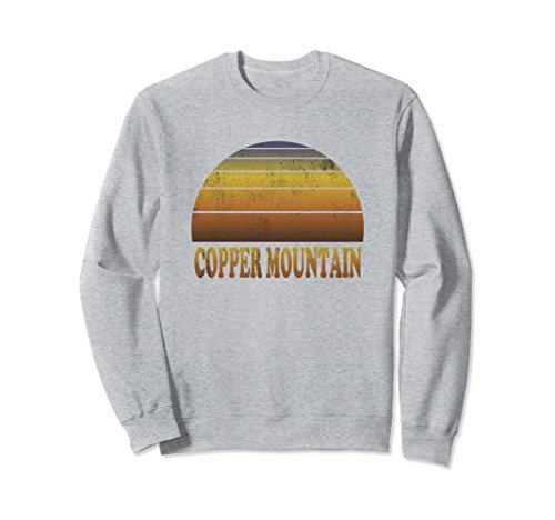 Unisex Copper Mountain Sweatshirt Clothes Adult Teen Kids Colorado Large Heather - Sweatshirt Mountain Copper