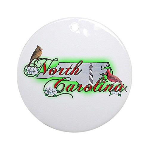 CafePress North Carolina Ornament (Round) Round Holiday Christmas -