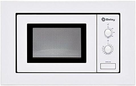 Opinión sobre Eurroweb - Microondas integrables con Plato Giratorio 800 W, Color Blanco
