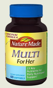 Nature Made Multi For Her with Iron & Calcium, Liquid Softge