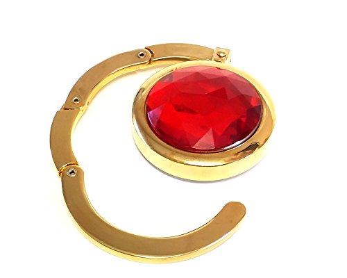 Speert Folding Purse Hook Hanger July Birthstone Ruby Red