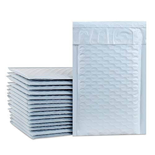 UCGOU 4x8 Inch White Poly Bubble Mailers Padded Envelopes Boutique Custom Bags Pack of 50