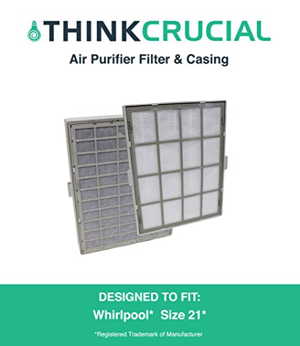 Replacement for Winix-Compatible Size 21 Air Filter & Cassette, Fits P300, WAC9500, WAC9000, WAC5000, WAC6300, WAC5500, WAC5300 & WAC5000B, by Think Crucial