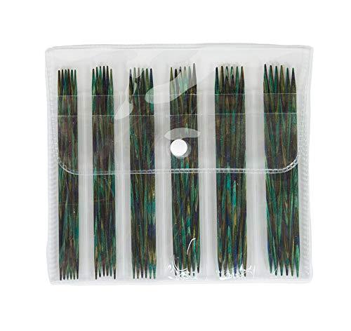 "Knit Picks 5"" Caspian Wood Double Pointed Needle Set"