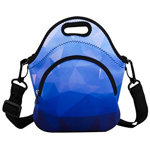 [해외]네오프렌 블루 다이아몬드 점심 가방  도시락  점심 토트  컨테이너 케이스 열 방수 피크닉 가방 절연 쿨러 여행 주최자 / Neoprene Blue Diamond Lunch BagLunch BoxLunch ToteContainer Case Thermal Waterproof Picnic Bags Insulated Cooler Tra...