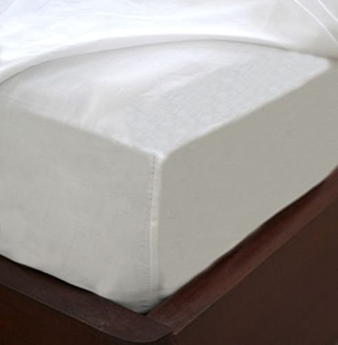 Fitted Mattress Sheet White Cotton Blend Fitted Bedding Sheet Easy Care & Soft (1, - Care Sheet Fitted Easy