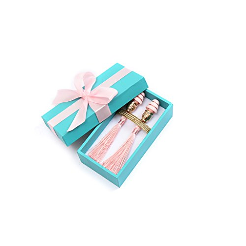 Breakfast at Tiffany's Technicolor Tassel Earplugs, dusty rose (w/gift box) by Utopiat