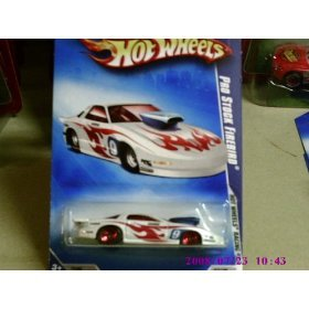 2009 Hot Wheels Hot Wheels Racing White Pro Stock Firebird w/ Red 5SPs #072 (06 of 10) 1:64 Scale