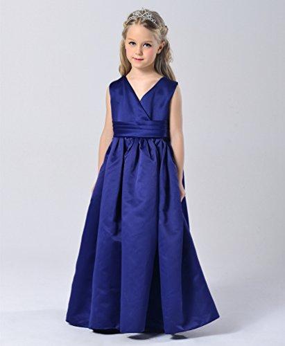 WanYang Sommer Langes Mädchen Kinder VAnsatz Rock Sleeveless Kleid ...
