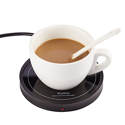 Electric Coffee Mug Warmer for Home/Office Use, Pyroceram Plate and Metal Shell, Waterproof Mug Warmer For Warming Beverage or Water, such as Coffee, Milk, Tea, Cocoa, Soup, Black