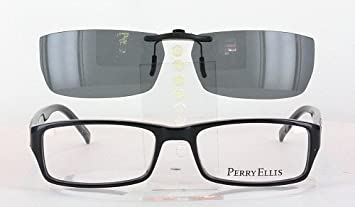 perry ellis 292 2 56x19 polarized clip on sunglasses frame not included