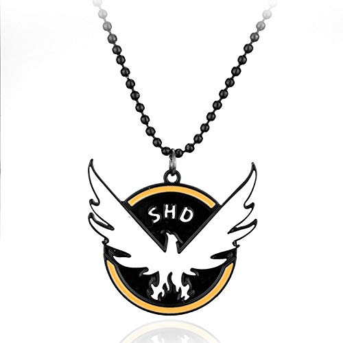 Algol - Tom Clancy's The Division Round Dog Tag Pendants Necklace TCTD SHD fans Men Gift Collier Women Pingente Masculino