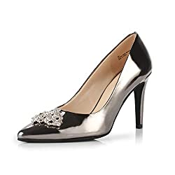 Pewter Pointed Toe High Heel Stiletto Shoes