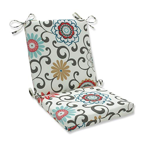 Pillow Perfect Outdoor Pom Pom Play Peachtini Squared Corners Chair Cushion