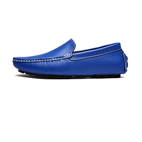 Color de shoes Bare Suela Goma Boat 46 Mens Driving Vamp tamaño Suave Orange Xiazhi Penny Azul Leisure Mocassins Liviana EU Loafers Zw7PqX