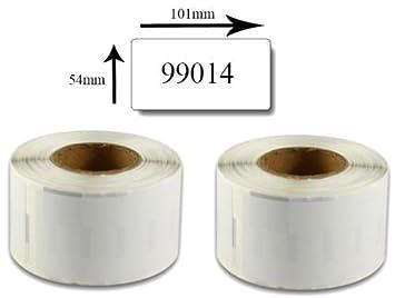 Bubprint 50 Etiketten kompatibel f/ür Dymo 99017 S0722460 f/ür Labelwriter 310 320 330 Turbo 400 Twin Turbo Duo 450 Twin Turbo Duo SE450 12MM X 50MM