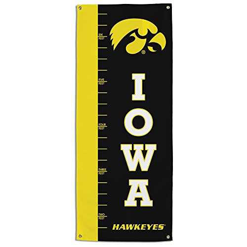 (NCAA Iowa Hawkeyes Growth Chart Banner, Black)