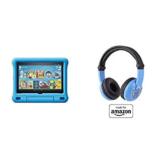 Fire HD 8 Kids Tablet 32GB Blue with Playtime (Ages 3-7) Bluetooth Headset