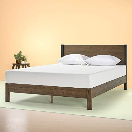 Zinus Cassandra 12 Inch Wood Platform Bed with Headboard, Queen
