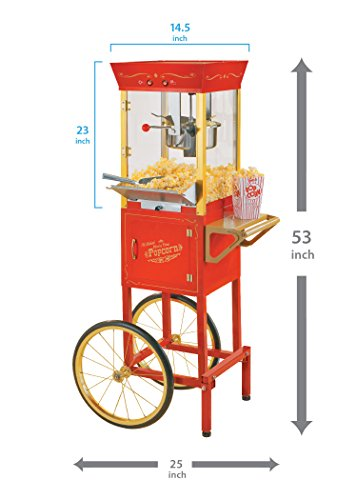 082677135100 - Nostalgia CCP510 53-Inch Tall Commercial 6-Ounce Kettle Popcorn Cart carousel main 3