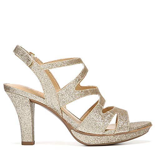 (Naturalizer Women's Dianna Gold Glitter 5 M US M (B))