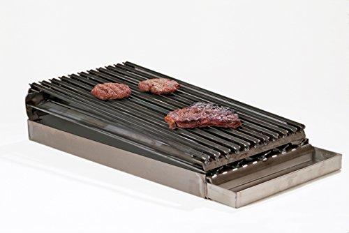 Burner Commercial Broiler - Master Chef Lift-Off 2-Burner Commercial Add-On Broiler