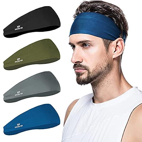 Damen Haarband Stirnband Elastische Stirnbänder Yoga Schweißband Fitness Sport