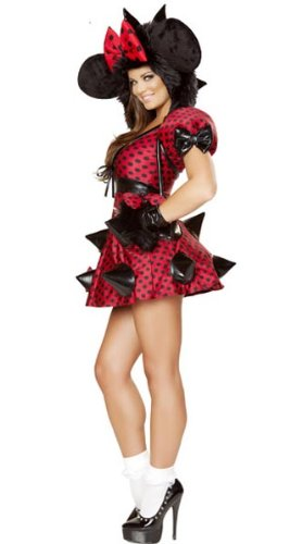 Rebel Mouse Dress Costume Valentine Halloween Cosplay -