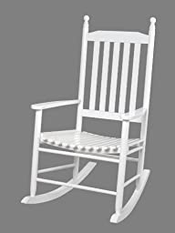 Gift Mark Adult Tall Back Rocking Chair, White
