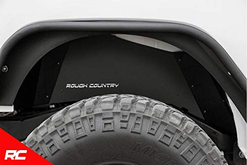 Rough Country Rear Steel Inner Fenders Liners Compatible w/ 2007-2018 Jeep Wrangler JK Rear Inner Fenders 10500