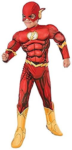 (Rubie's Costume DC Superheroes Flash Deluxe Child Costume,)