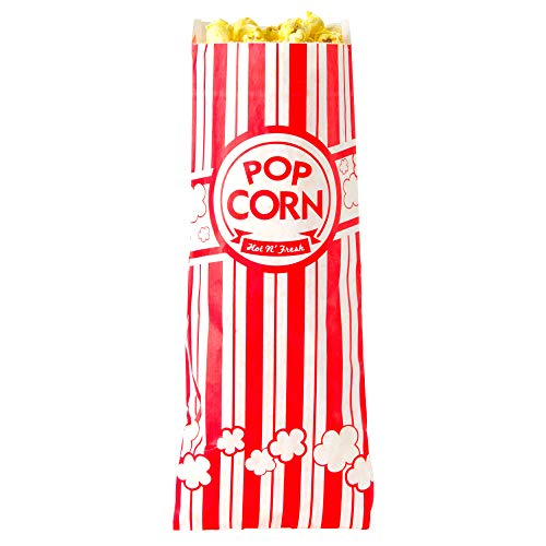 (Carnival King Popcorn Bags 0.6 oz | 110 Classic Red and White Bags | 7