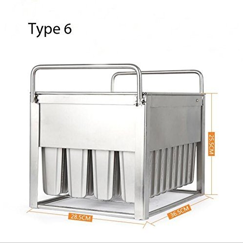 40pieces Stainless Steel Ice Cream Molds ice pop molds with stick holder Food Class 6 different size for you to select by Ykchanger (Image #7)