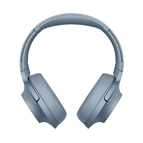 Sony WH-H900N h.ear Series Wireless Over-Ear Noise Cancelling High Resolution Headphones (International version/seller warranty) (Blue) by Sony
