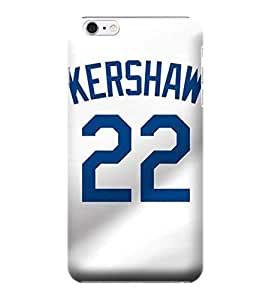 iPhone 6 Cases, MLB - Los Angeles Dodgers #22 Clayton Kershaw - iPhone 6 Cases - High Quality PC Case by mcsharks