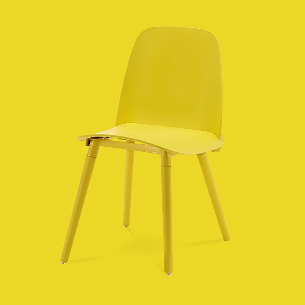 QRFDIAN Freizeitstuhl kreativer Esszimmerstuhl Moderner minimalistischer Massivholzstuhl Kunststoff-Coffee-Shop-Stuhl Eukalyptusbein Ledersitzstuhl (Farbe : C)