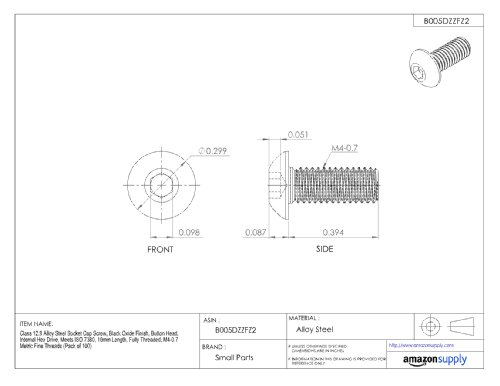 Length: 15mm Newport Fasteners Socket Head Cap Screw Quantity: 100 DIN 912 Alloy Steel Metric Class 12.9 M6 Allen Bolt Coarse Thread M6-1.0 x 15mm Hex Socket Black Oxide Full Thread