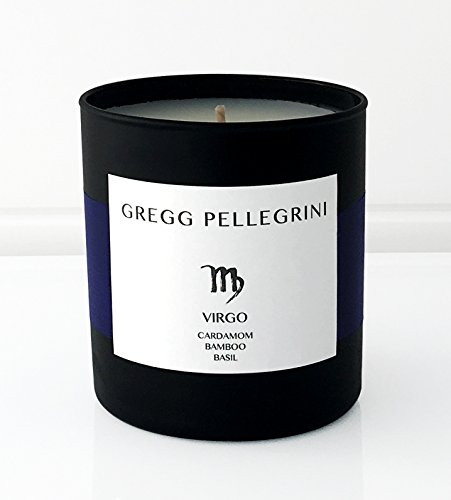 Scented Candle • Paraffin Free All Natural Coconut and Beeswax • Cardamom • Bamboo • Basil • Virgo Zodiac • 230 g / 8 Oz. • Hand Poured in the USA