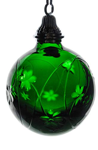 Waterford 2006 Emerald Green Cased Crystal Shamrock Ball Ornament (Cased Ornament Ball)