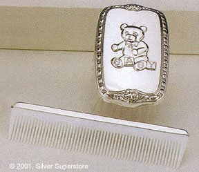 Empire Silver Sterling Boys Comb & Brush Set With (Empire Silver Baby Gifts)