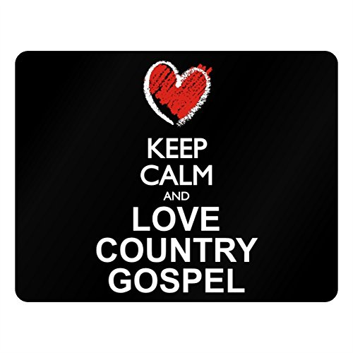 Idakoos Keep calm and love Country Gospel chalk style - Music - Plastic Acrylic - Gospel Chalk