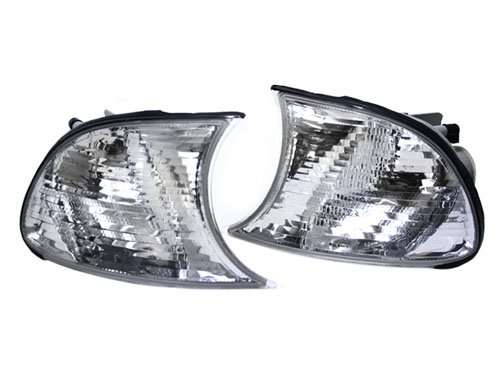 TopPick Corner Lights FOR BMW E46 3-Series 2DR 1999-2001 Clear/Chrome 63126904307-63126904308 ()